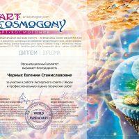 Диплом члена жюри Cosmogony Moscow
