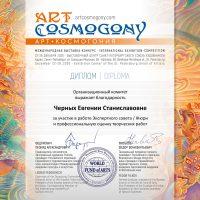 Диплом члена жюри Cosmogony Saint Petersburg
