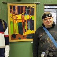 Выпускники колледжа Тимофей Купреев и Стас Масленников в экспозиции выставки.
