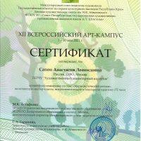 Сертификат Сапон